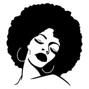 Adesivo - Woman Mulher Beauty Beleza Cabelo Afro Hair
