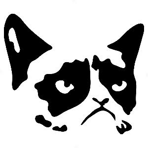 Adesivo - Grumpy Cat Gato Rabugento Não No Nope Meme