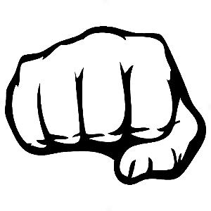 Adesivo - Sign Sinal Marca Fist Punho Punch Murro Hand Mão