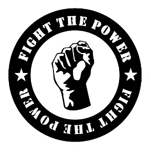 Adesivo - Sign Sinal Luta Resistência Movimento Fight The Power Resistance Moviment Fist Hand Mão