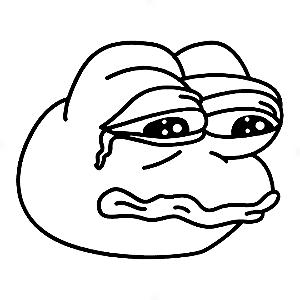 Adesivo - Sad Frog Sapo Triste Face Meme