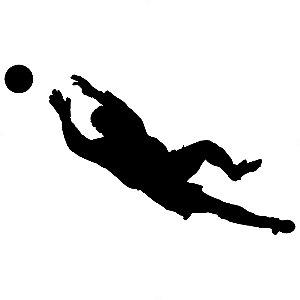 Adesivo - Bola Goleiro Futebol Esporte Jogo
