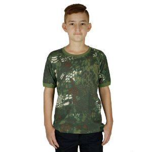 Camiseta Infantil Soldier Kids Camuflada Mandrake Bélica