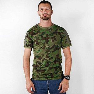 Camiseta Tática Masculina Ranger Camuflada Tropic Bélica