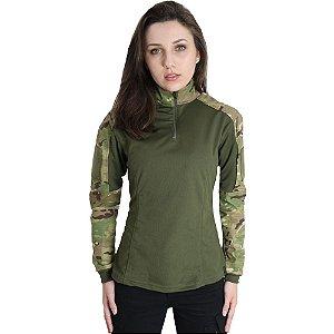 Combat Shirt Feminina Multicam - Bélica