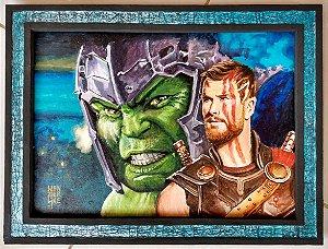 Hulk e Thor Ragnarok - fanart