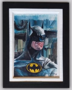 Quadro Batman em aquarela