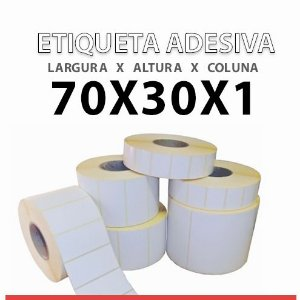 ROLO ETIQUETA COUCHE ADESIVA 70X30x1 MM