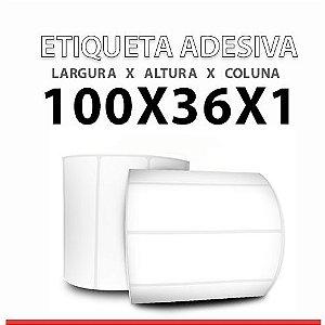 ROLO ETIQUETA COUCHE ADESIVA 100X36x1 MM
