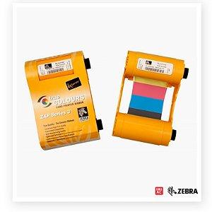 Ribbon Original Zebra Colorido para Impressora ZXP Series 3 - YMCKO 200 Impressões