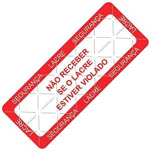 Etiqueta de Lacre - Linha Delivery 90x35x1 mm