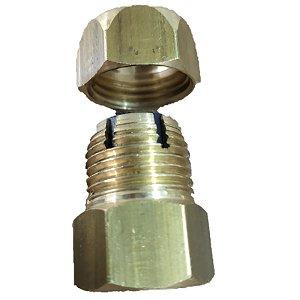 Niple Adaptador 1/2 pol P/ Mangueira Cobre Fogão 326014696P