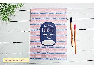 Caderno Flex Você É Mais Forte Do Que Pensa - Pontilhado