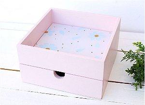 Caixa Aberta Com Gaveta Floral