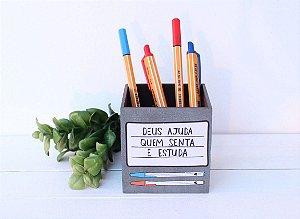 Porta Caneta Deus Ajuda