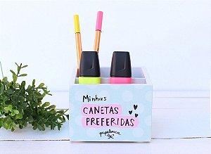 """Porta Caneta """"Minhas Canetas Preferidas"""""""