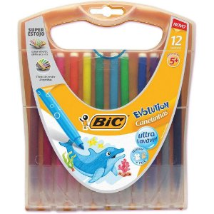 Canetinhas Evolution 12 cores BIC