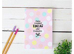 Caderno Flex Pequeno Minhas Ideias - Pautado