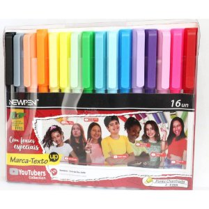 Marca Texto YouTubers Collection 16 cores NEWPEN