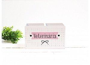 Porta Caneta Duplo Veterinária