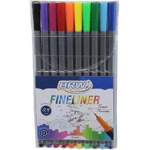 Caneta Fineliner 10 cores BRW
