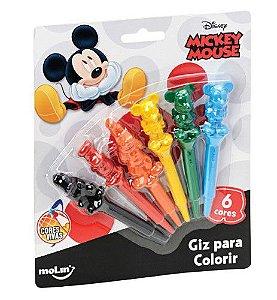 Giz de Cera Mickey Mouse 6 cores MOLIN