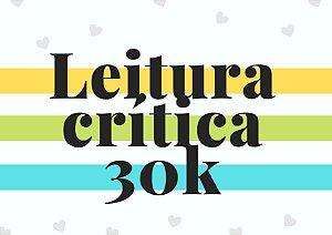 Leitura crítica até 30 mil palavras
