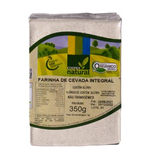Farinha de Cevada Integral 350gr - Contém glúten
