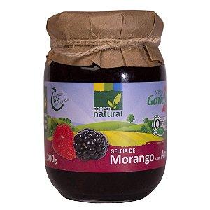Geleia de Morango com Amora com pedaços de fruta 300g