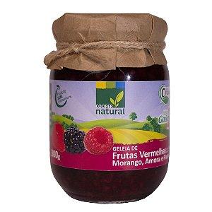 Geleia de Frutas Vermelhas 300g c/pedaços de fruta (Amora, Morango e Framboesa)