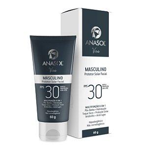 Anasol Protetor Solar Facial Masculino FPS 30 60g