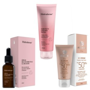 HIDRABENE Kit Clareador Facial