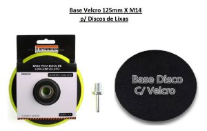 Base Velcro 125mmXM14 P/ Discos de Lixa