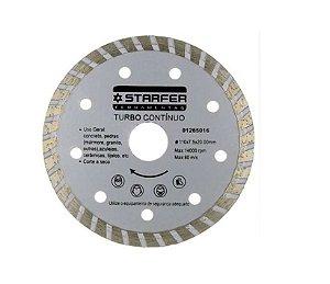 """Disco 4 3/8"""" (110mm) X Furo 20mm Contínuo Turbo Corte a Seco (Pedras)"""