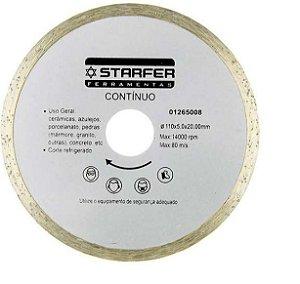 """Disco 4 3/8"""" (110mm) X Furo 20mm Contínuo Corte Pedras Refrigerado"""