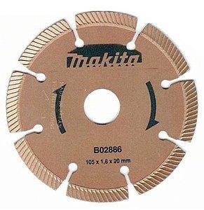 Disco Makita Ouro 2886 Corte Pedras Furo 20mm (Corte a Seco)