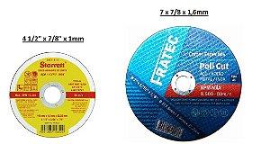 Discos Corte (Finos) p/Metais em Geral (Inox...) (Vendidos separadamente)