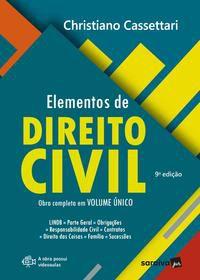 ELEMENTOS DE DIREITO CIVIL - 9ª EDIÇÃO 2021 - CASSETTARI, CHRISTIANO