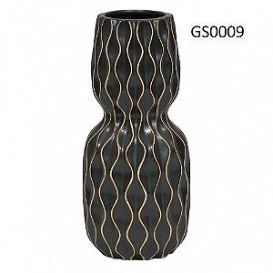 Vasos de Cerâmica Preto com Desenhos Geométricos