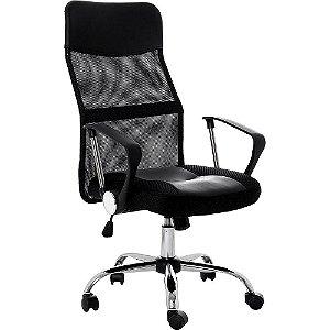 Cadeira Escritório Giratória Com Regulagem de Altura Em Tela Mesh
