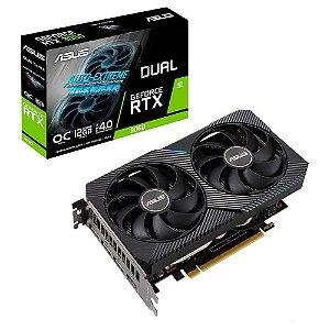 Placa de Video RTX 3060 OC EDITION 12GB GDDR6 - 1X HDMI/3X DISPLAYPORT - DUAL-RTX3060-O12G Asus