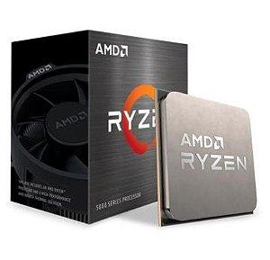 Processador AMD Ryzen R5 5600X 3.7GHz (Max Turbo 4,6ghz) DDR4 AM4 35MB Cache