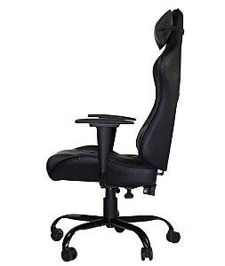 Cadeira Gamer Giratória Reclinável com Regulagem de Altura Preta