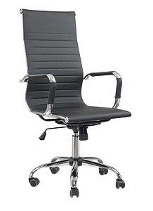Cadeira Escritório Presidente Giratória Charles Eames Preta