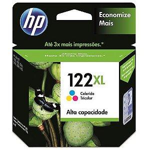 Cartucho de Tinta HP 122 XL Tricolor - Alto Volume - CH564HB
