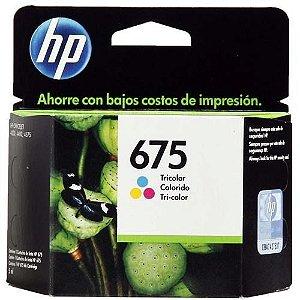 Cartucho Original Hp 675 Colorido  Inkjet