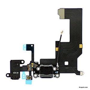 Cabo Flex Flat Iphone 5S Dock Conector Carga Usb