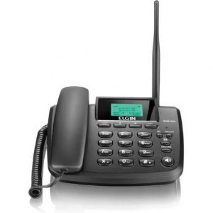 Aparelho Telefico Com Fio GSM-2000 Dual Chip Rural C/Antena ELGIN