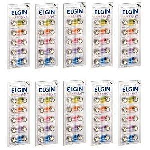 Pilha Bateria Botao LR44 1.5V. CT.C/10 82194 Elgin