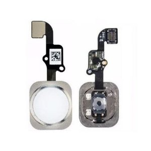 Botão Home iPhone 6S Plus Branco/Preto